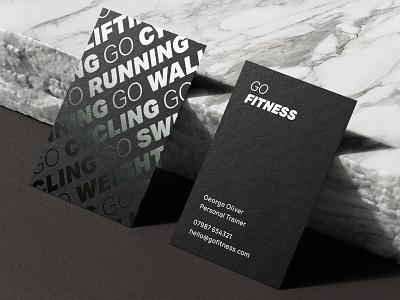 Go Fitness - Business Cards branding design pt business card fitness