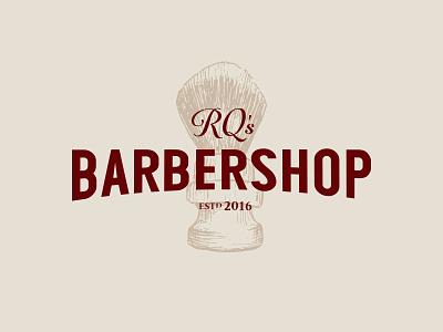 RQ's Barbershop rq barbershop barber branding brand logo
