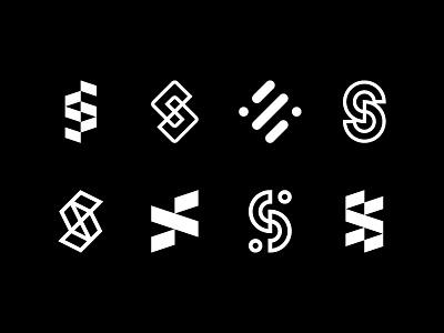 S Exploration letter exploration logotype logomark brand icon monogram logo s