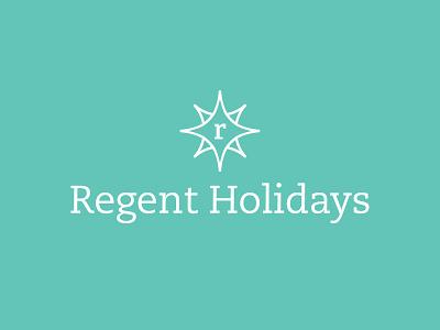 Regent Holidays pioneer serif slab brand logo star rose compass r holidays regent