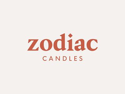 Zodiac Candles astrology wordmark logotype candles zodiac brand logo