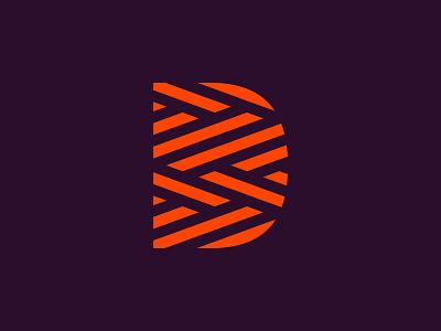 D - Thread textile fabric thread fashion clothing icon logotype mark brand logo d