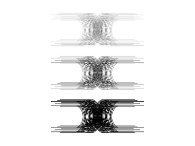 Letter 'x' line weight multiple lines typography letter x