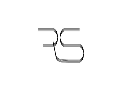 Letter R S vector logo letters s r typography