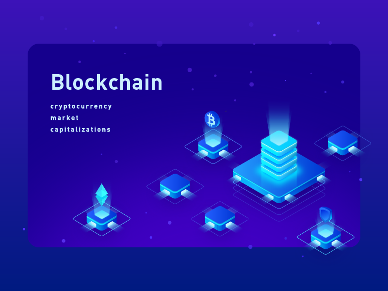 2.5d  blockchain 2.5d illustration