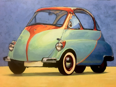 Issetta Wip painting issetta bubble car