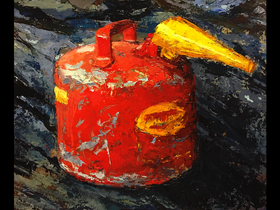 Gas can gas can painting study