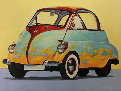 Issetta 6 bubble car painting
