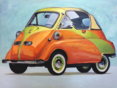 Issetta_5 painting bubble car