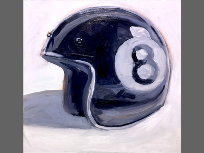 Eightball Brain Bucket painting motorcycle helmet