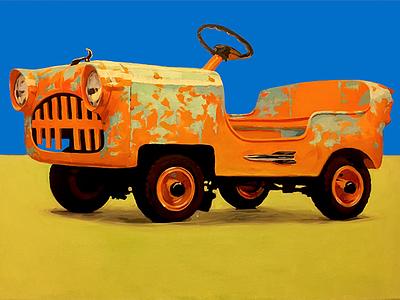 1956 Eshelman Deluxe Adult Sport Car_wip bubble car painting