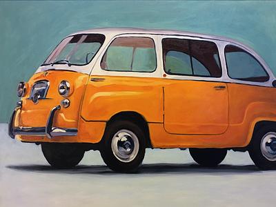 1960 Fiat Multipla 600 Wip microcar fiat painting