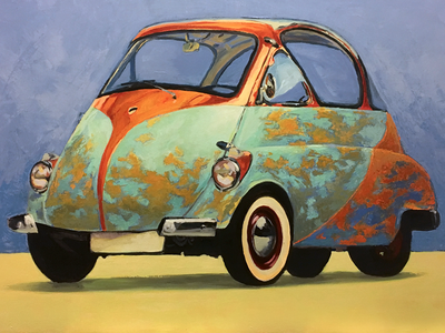 1955 Issetta 2 bubble car painting