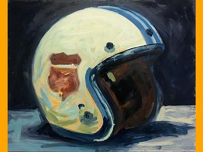 Brain Bucket #4 wip painting motorcycle helmet