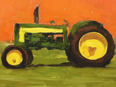 JD435D study painting tractor