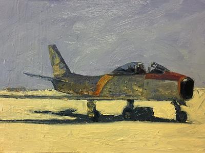 F-86 airplane painting