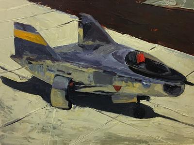 M2-F2 Lifting Body aircraft study study painting