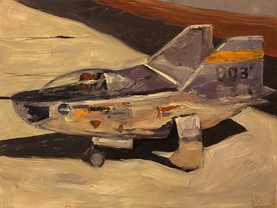 M2-F2 Lifting Body Aircraft - study 2 airplane study painting