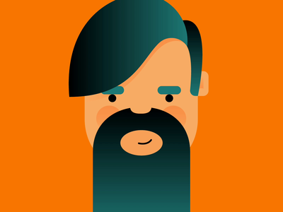 Spring Cleaning male animated cute illustrator flowers shave mustache man equinox spring character beard animation gif gradient bright design vector illustration art