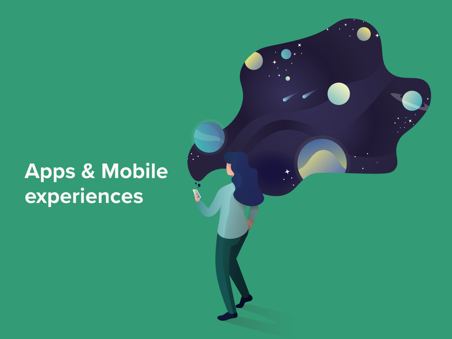 Apps & Mobile experiences human experience univers mobile app apps illustrator design illustration