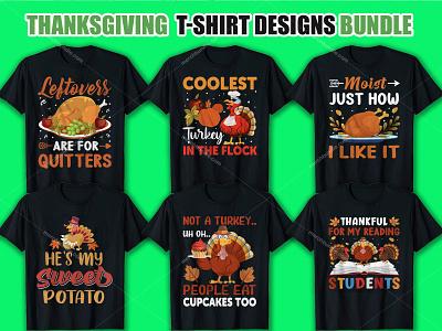 THANKSGIVING T-SHIRT DESIGNS BUNDLE thanksgiving typography vector clothingbrand apparel ootd clothes love hoodie design streetwear shirt kaos moda clothing style tshirts tshirtdesign fashion tshirt