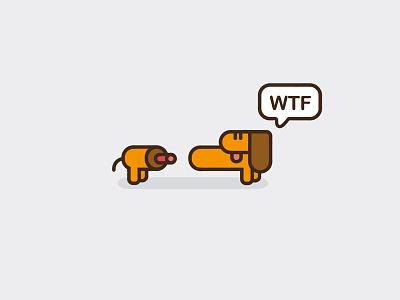 WTF 3 dog hotdog wtf logo sausage dachshund icon icons drawing illustration