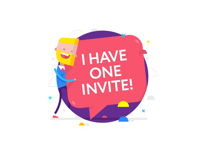 I have one invite! Quickly!! Who needs!?!) available basketball invitations invites bubble pink dribbble illustration flat design invite