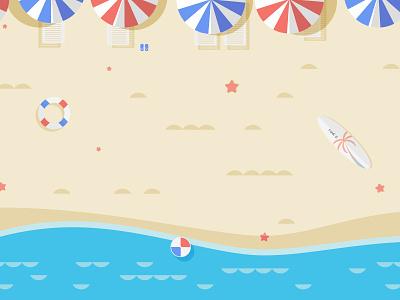 Scenery chair surfboard slipper starfish buoy sea wave ball beach