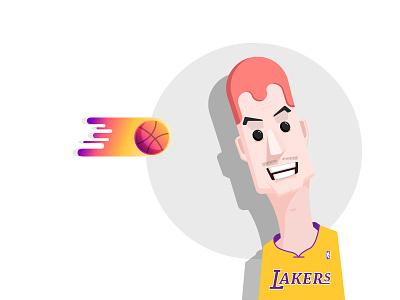 M man ball nba lakers face basketball