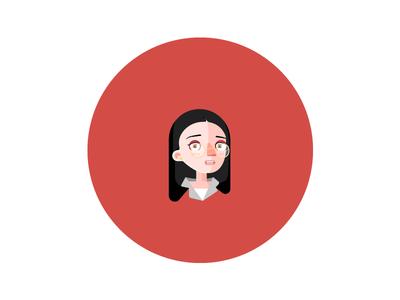face illustrator girl glass female woman face