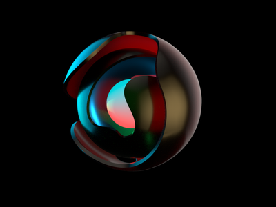 Ball black arnold cinema 4d render light design cloud ball