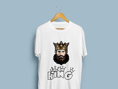 King T-Shirt design logo illustration design t-shirt trending t shirt trending fashion design custom t shirt clothing bulk t shirt