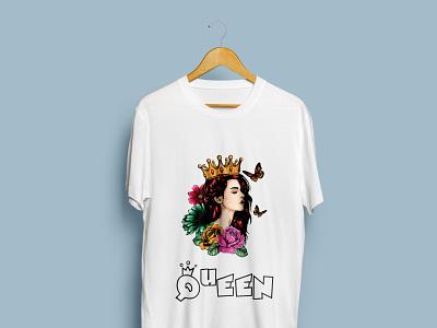 Queen T-Shirt design logo illustration design t-shirt trending t shirt trending fashion design custom t shirt clothing bulk t shirt