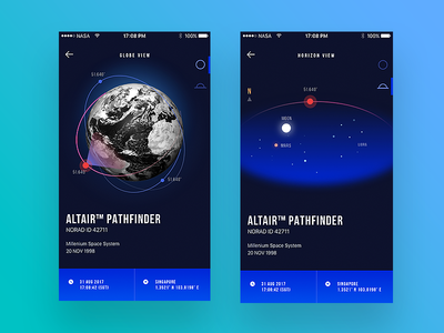 In-The-Sky.org mobile app Concept II astronomy sky mobile app app rocket nasa satellite technology space