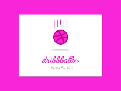 Thanks @Adrian invite thanks dribbble