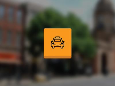 Hansom Taxi app icon ios orange icon app