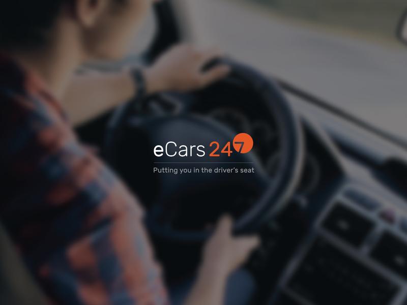 eCars 24/7 Logo brand and identity digital identity logo brand