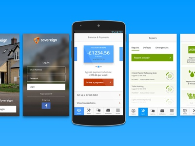 Sovereign Android App Design concept android design app brand