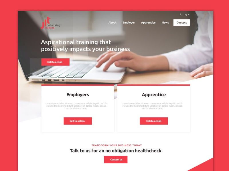 JLT Website Design website concept red bold homepage responsive web design website business brand and identity ui design concept brand