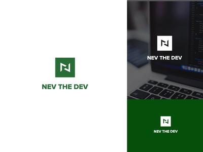 NevThe.Dev - Logo Concept vector website icon green branding blog developer business logo brand and identity design brand