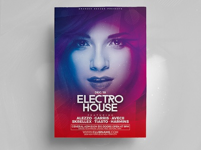 Electro House Flyer stylish clean flyer