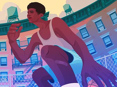 Streetball: Part II nike sports new york city basketball sneaker editorial illustration adobe illustrator