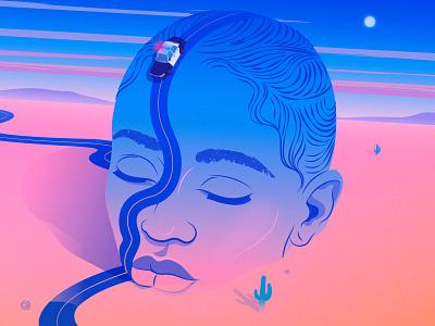Prudent Girls | NYTimes nature desert portrait new york times magical realism illustration editorial illustration adobe illustrator