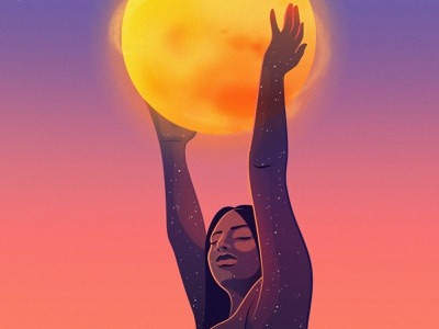 Wellness | HP space sun health tech editorial magical realism illustration editorial illustration adobe illustrator