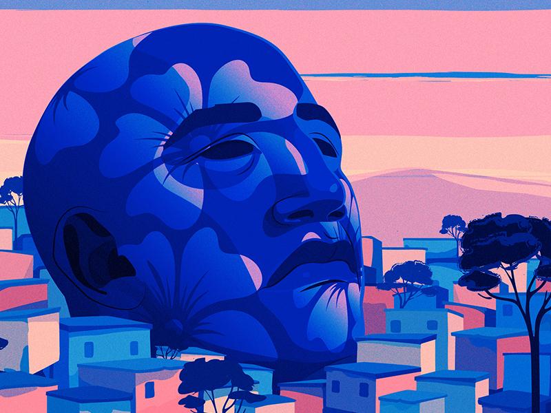 Vista magical realism new york times latino illustration editorial adobe illustrator