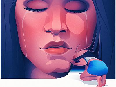 Appearances health surreal mental health adobe illustrator