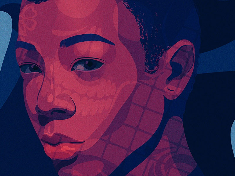 Poussey | Netflix portrait dia de los muertos oitnb netflix illustration editorial illustration adobe illustrator