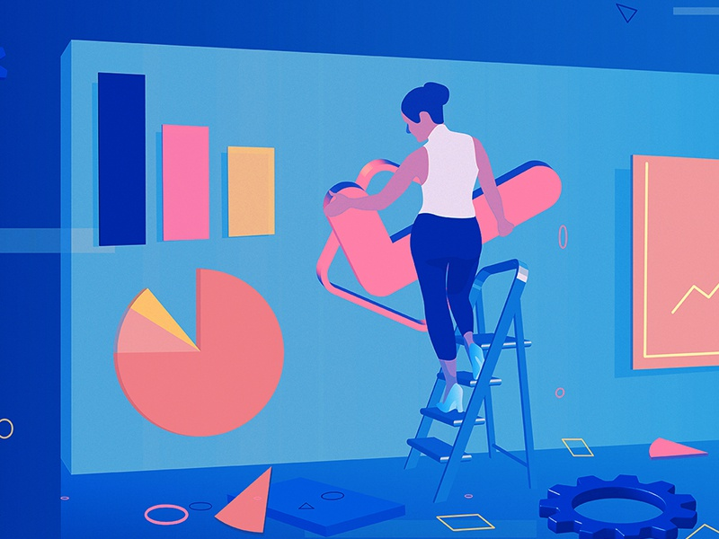 Is A.I. the Key to the Future of Your Business? | Intel graphs nyt intel editorial illustration artificial intelligence adobe illustrator