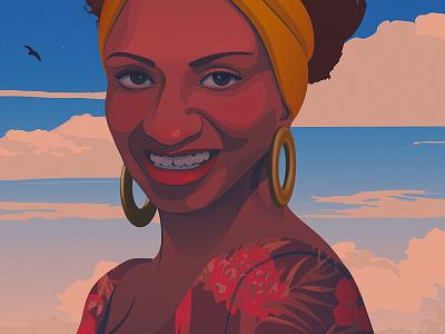 Celia Cruz salsa latina cuba celia cruz iilustration editorial illustration adobe illustrator