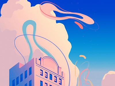 Summer Breeze summer sunset risd illustration editorial illustration adobe illustrator